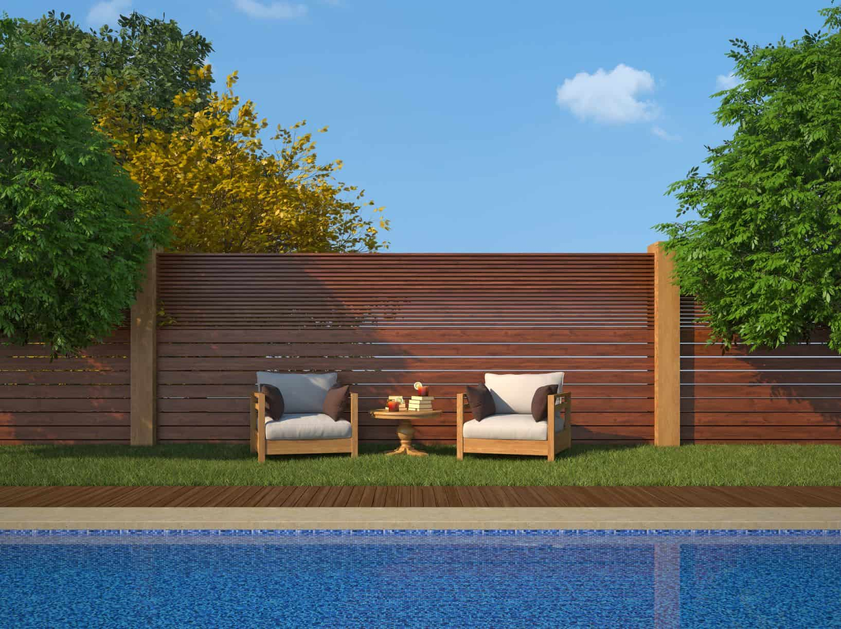 Privacy and pool fence